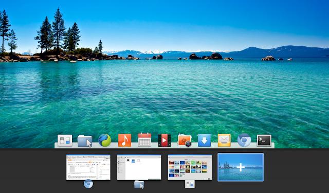 elementary OS desktop Luna