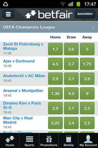 Betfair Mobile Offers