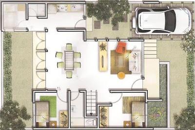 Kumpulan Contoh Denah Rumah Modern 2014