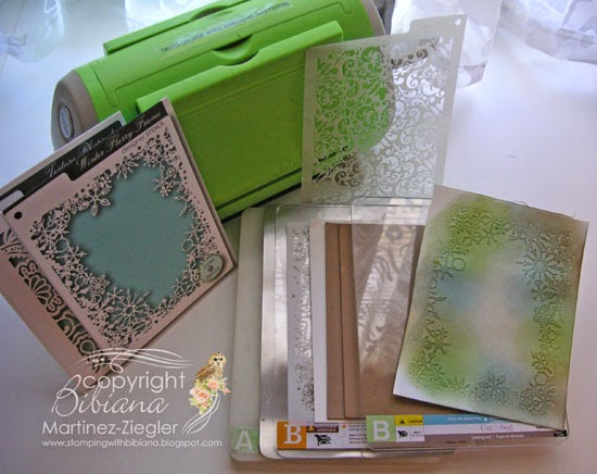 dry embossing with stencils
