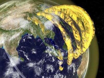 Existem tubos de plasma flutuando sobre a Terra?