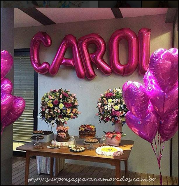 decoracao festa surpresaModa – Balões Metalizados para Festas