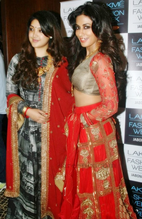 Chitrangada-singh-Harshita-chatterjee-silk-lehenga