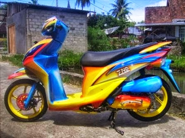 Modifikasi Honda Spacy Airbrush