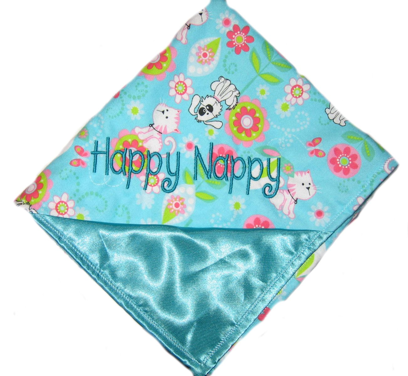 personalized satin security blanket