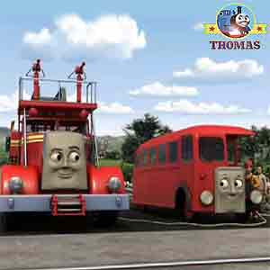 Thomas train Flynn the tank engine Sir Topham Hatt gatehouse crossing rescue Bertie bus day traveler