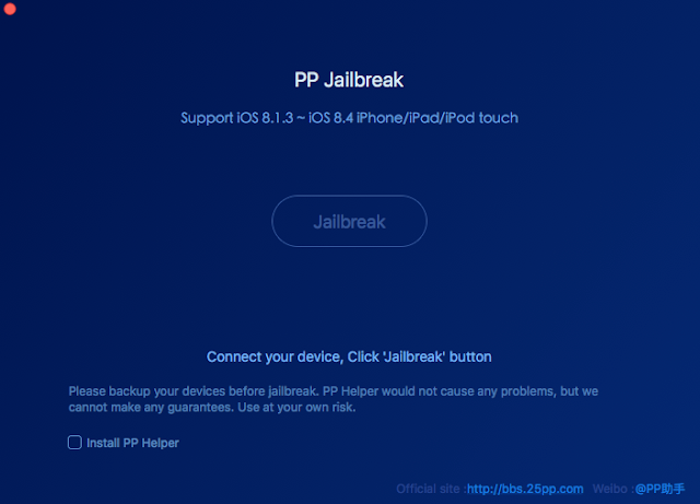 PP Jailbreak Tool for Mac OS X