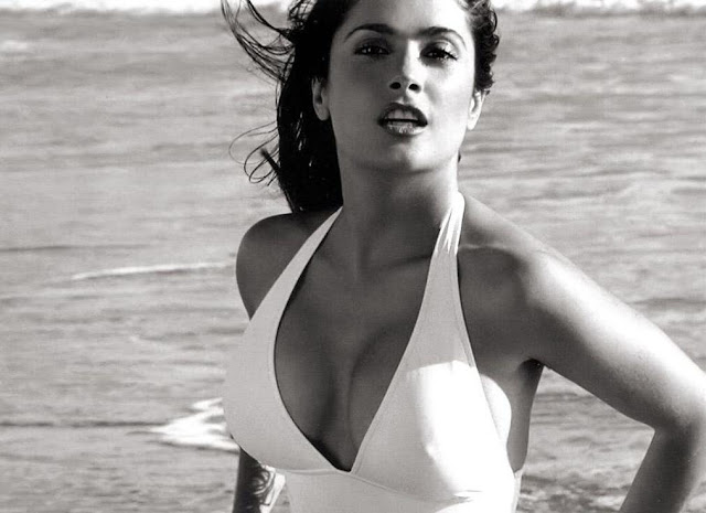 Salama Hayek in Hot Bikini
