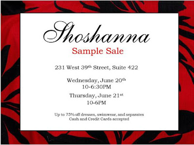 Shoshanna Sample Sale