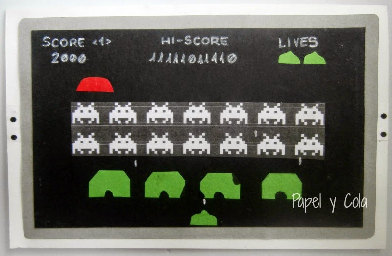 Space Invaders Scrap Edition - Papel y Cola