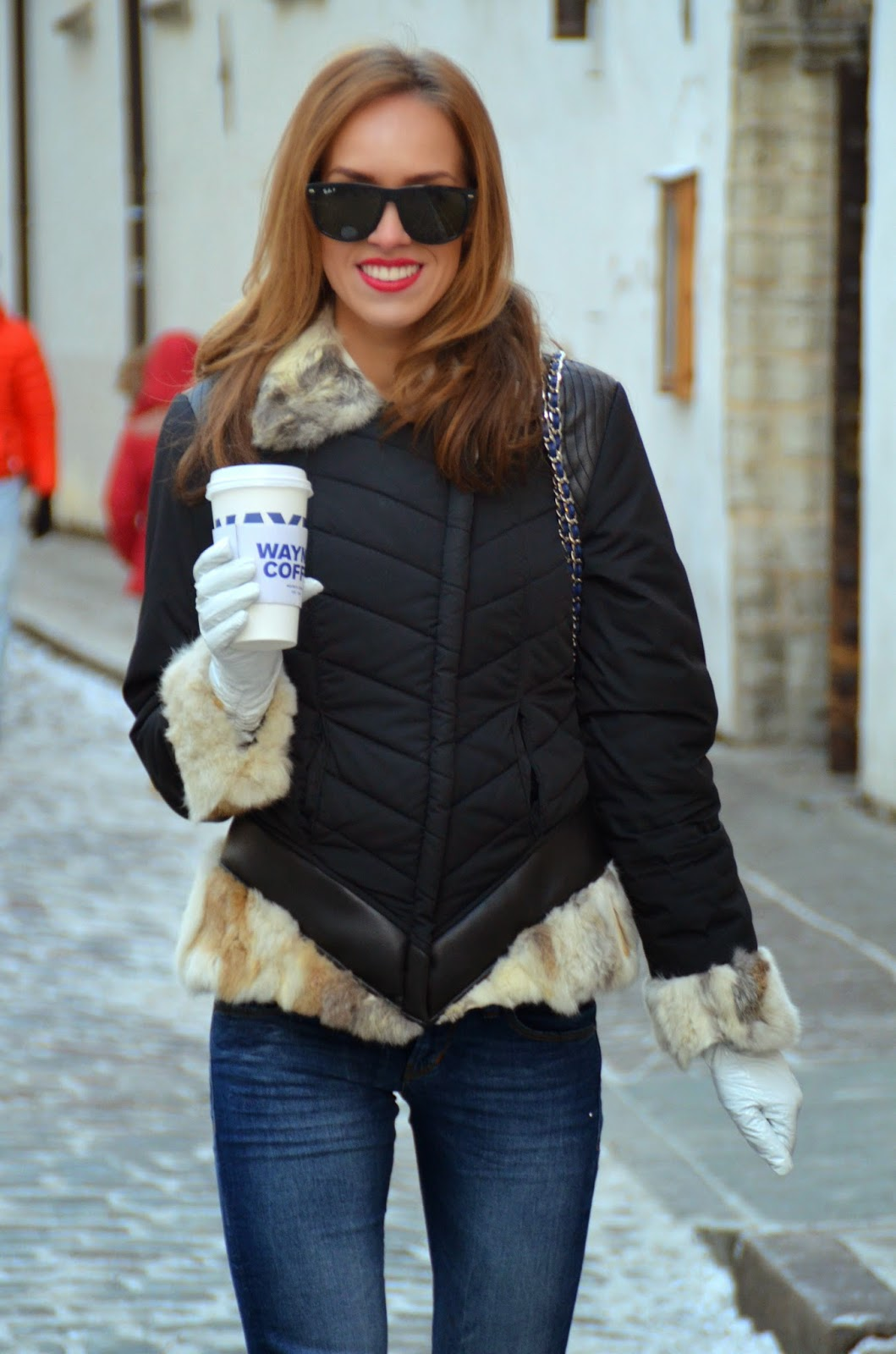ray-ban-sunglasses-rino-pelle-jacket-guess-jeans-winter-outfit