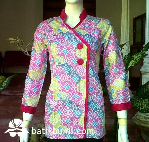 blouse batik kantoran