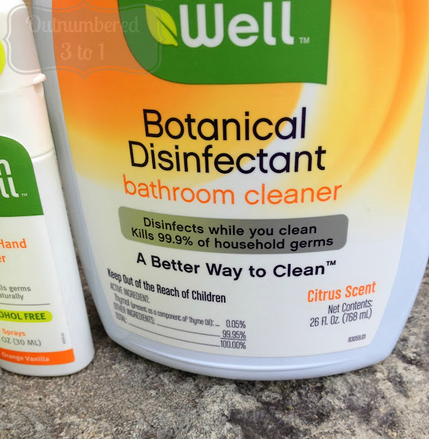 A better way to clean with cleanwell outnumbered 3 to 1 for Cleanwell botanical disinfectant bathroom cleaner