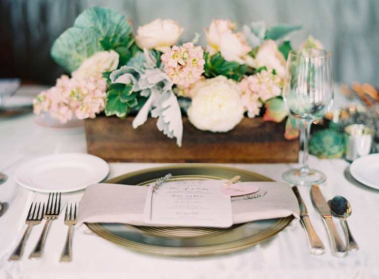 Postcards and pretties pretty details wooden box centerpieces how charming are the addition of love quotes or the couples wedding date engraved on the boxes so cute right i also like how they can serve as double junglespirit Choice Image