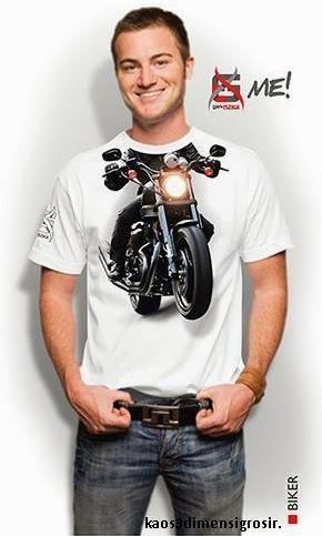 kaos 3d me-biker