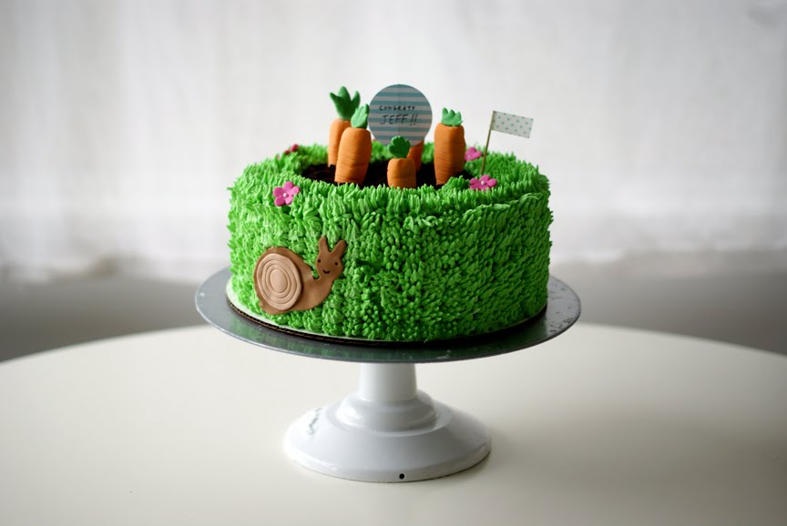 Garden Cuteness Vegan Cake Growing Carrot Garden Cake