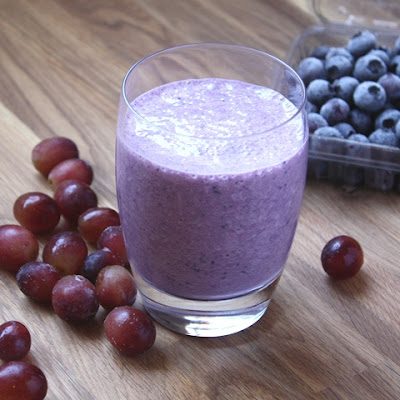 Blueberry Grape Banana Smoothie recipe by Barefeet In The Kitchen