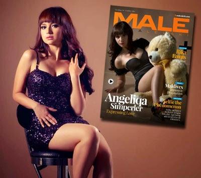 Angelica Simperler, Model Sexy Hot MALE Mata Lelaki 76