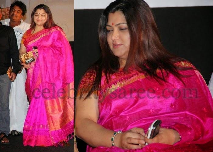Kushboo Fuchsia Pink Saree