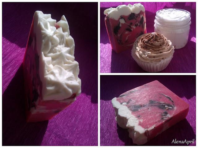 клубничное мыло со сливками Милавия
