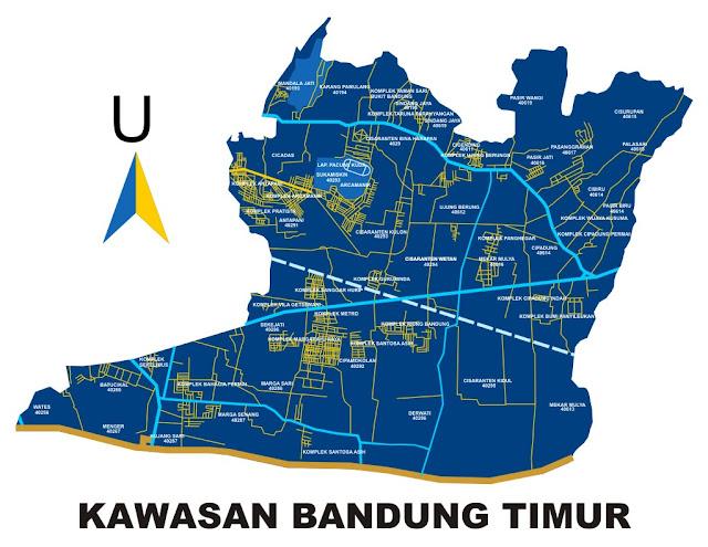 Peta Kawasan Bandung Timur