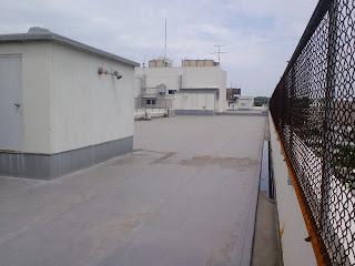 仙台社会保険病院の第1病棟の屋上