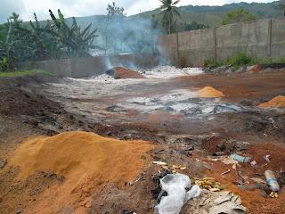 Pembakaran limbah padat hasil olahan kayu cv. irian utam a