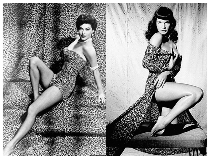Ava Gardner y Betty Page