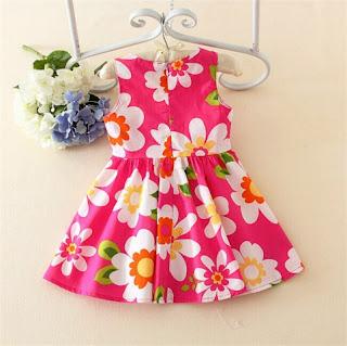 Contoh Baju Dress Bayi Perempuan Lucu