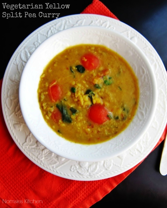 Vegetarian Yellow Split Pea Curry Recipe from Nomsies Kitchen