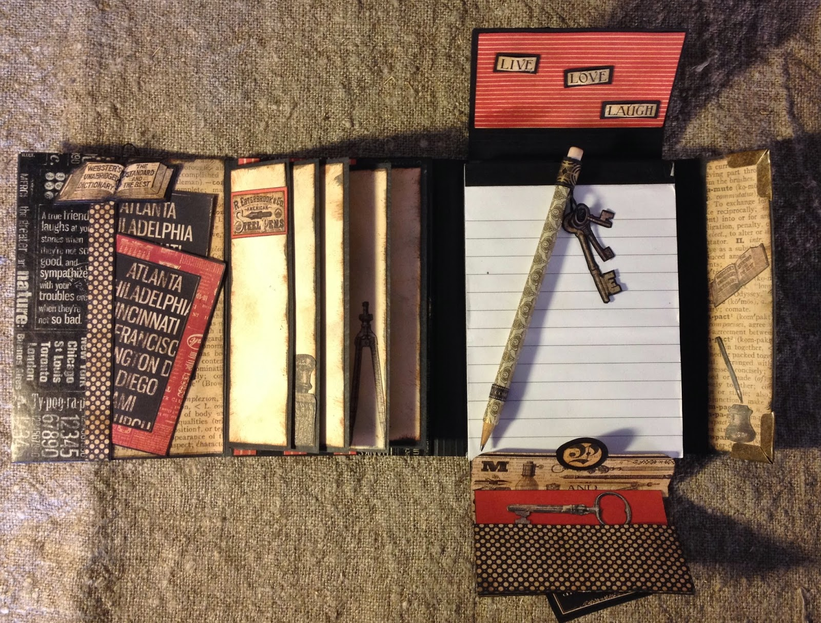Annes Papercreations Graphic 45 Typography Folio Journal