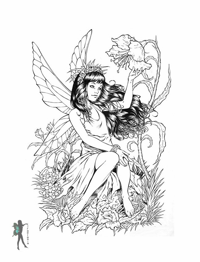 fairy coloring pages for adults - photo#13