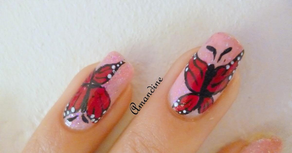 amandine nail art envol de papillons. Black Bedroom Furniture Sets. Home Design Ideas