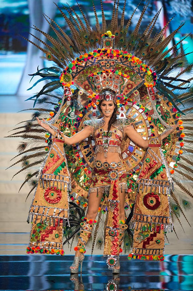 Of all the Native Feathered Incan/Aztec/Mayan Empress Goddess costumes that were seen on Friday nights Miss Universe 2012 National Costume Presentation