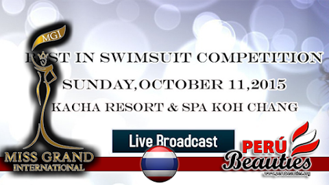 Best in Swimsuit Competition Live Stream -  Miss Grand International 2015
