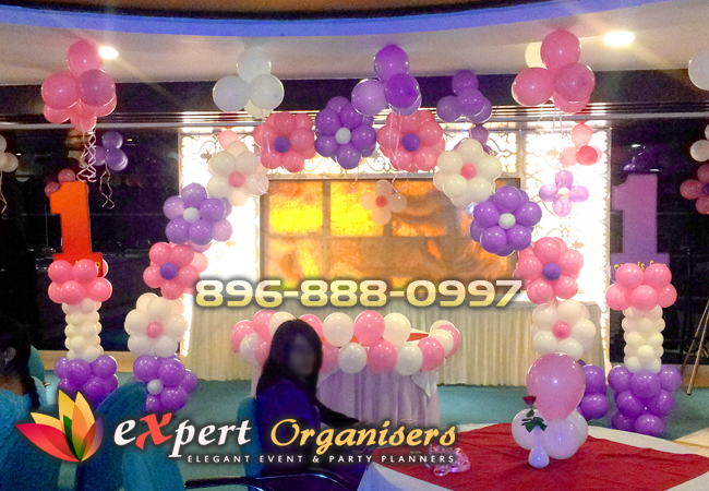 Birthday planners organisers chandigarh mohali for 1st birthday hall decoration