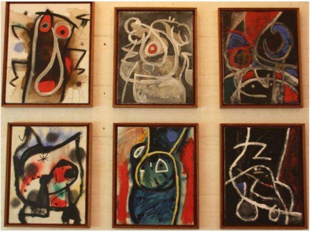 Seis cuadros en la Fundacion Pilar y Joan Miro en Mallorca