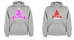 Gris/logo rojo(chicos) logo rosa(chicas)