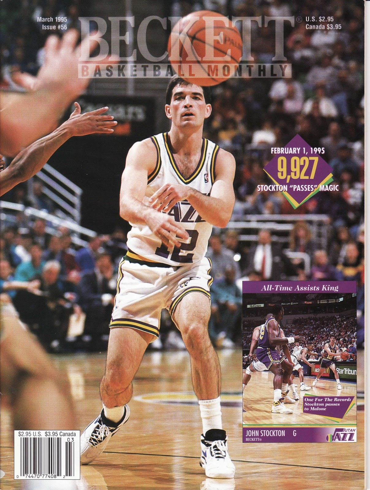 John Stockton from Beckett Basketball Monthly