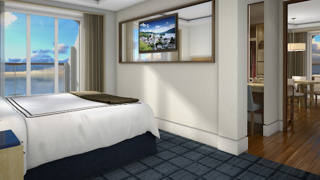 1 of 3: Explorer's Suite measure between 757 - 1,163 sq. ft. Photo: © Viking Cruises. Unauthorized use is prohibited.
