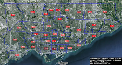 toronto housing crash map