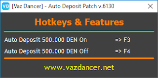 Cheat Auto Deposito Ayodance V6130 vazdancer