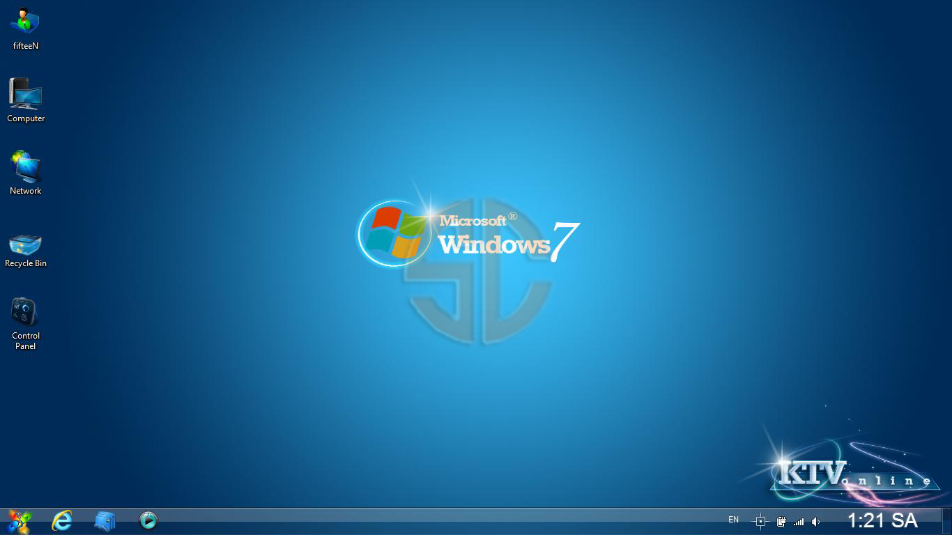 Windows 7 Ultimate SP1 Aero Blue Elegant