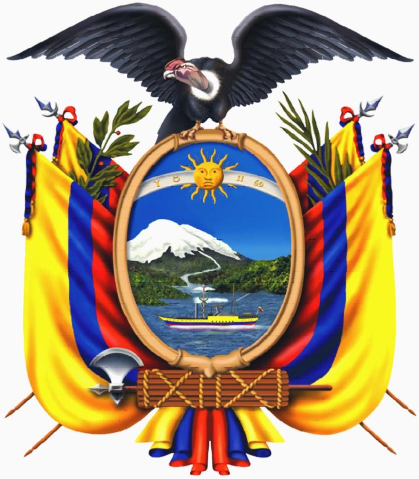 NOVENO ESCUDO DEL ECUADOR   HISTORIA DEL ESCUDO DE ECUADOR
