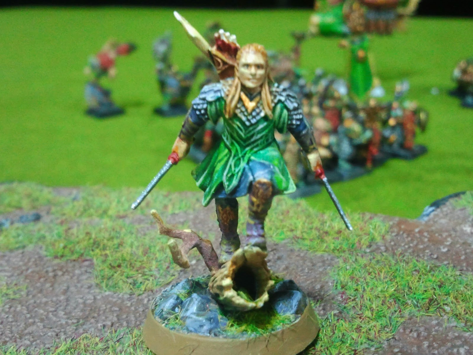 WAR PIN PALS: Pintando... El hobbit (Legolas y Tauriel)