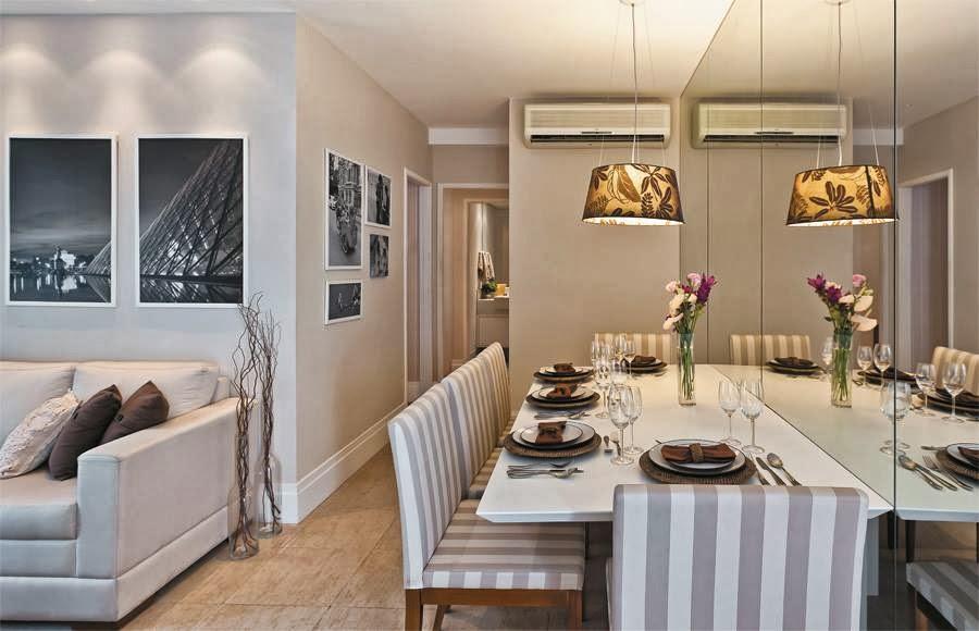 Sala De Estar Na Cor Bege ~ Salas cinza claro combinando com o amadeirado, marrom e branco