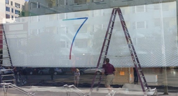 iOS 7 Banner at WWDC 2013