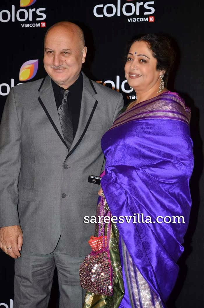 Anupam Kher along with his wife Kiron Kher