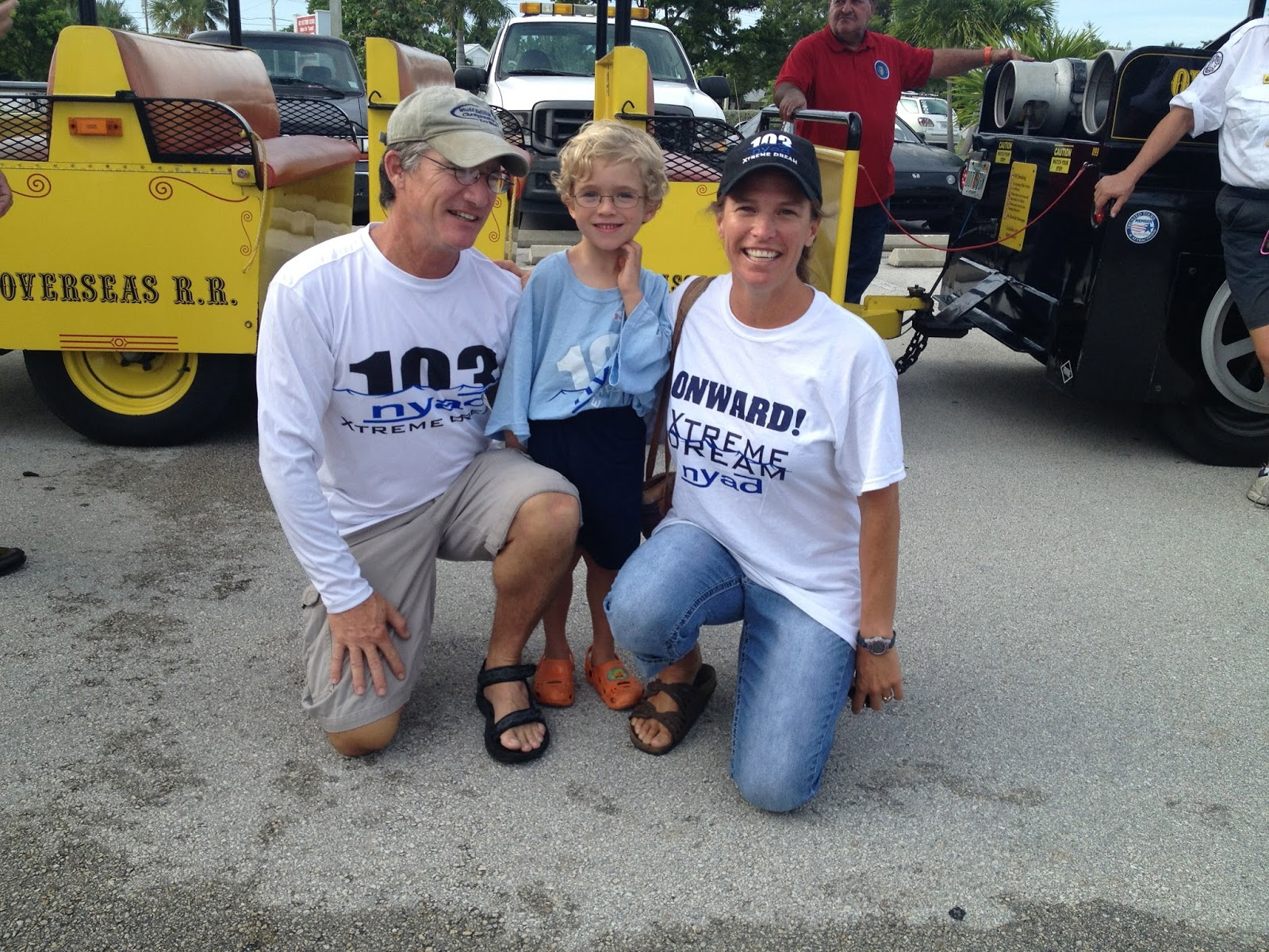 Team members and supporters gather at Key West High School before the Conch Tour Train parade. photo credit: JoAnn Murray