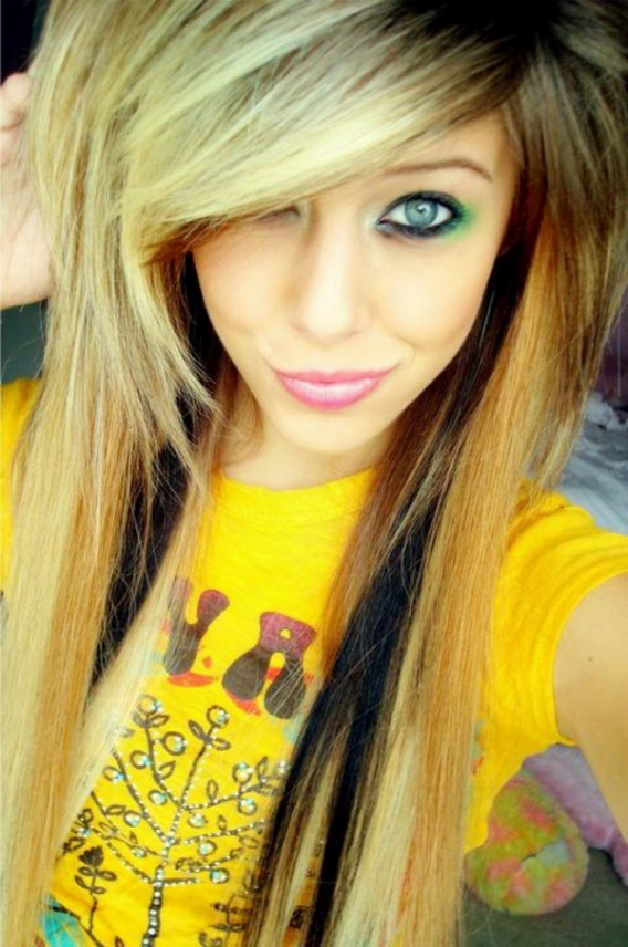 emo hairstyles for girls with long hair. These Long Emo Hair Cuts,